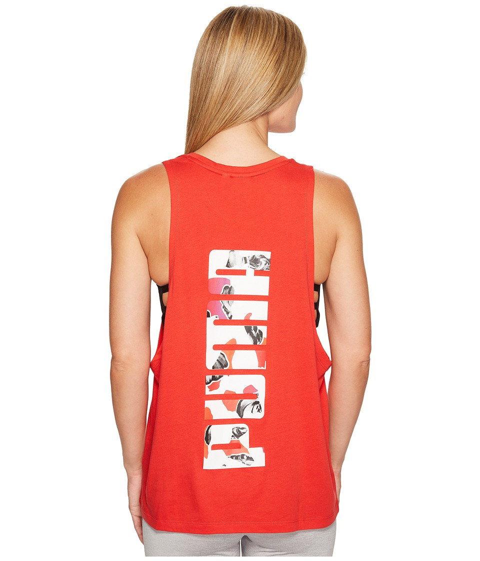 PUMA Archive Logo Tank Top (High Risk Red) Women