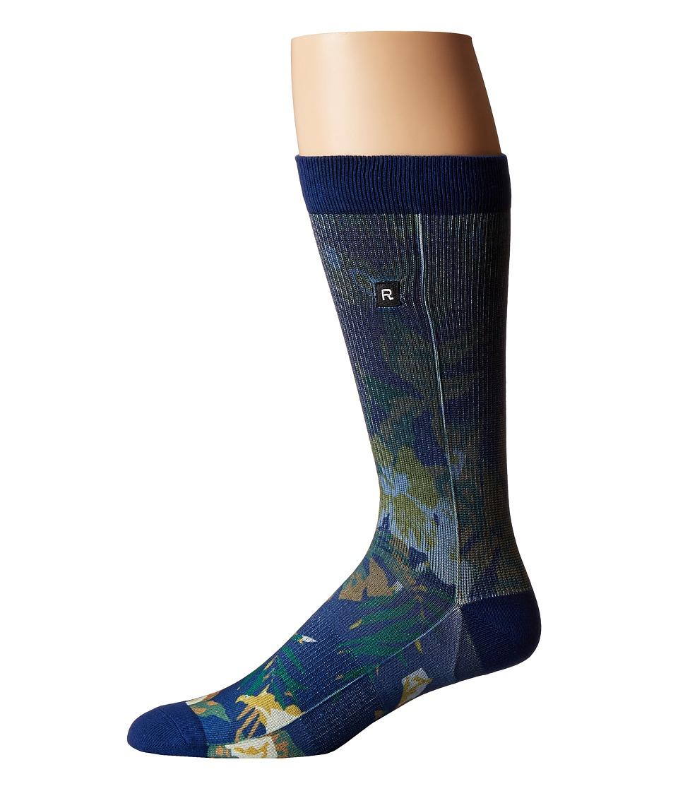 Richer Poorer - Aloha Althletic Socks (Navy) Mens Crew Cut Socks Shoes