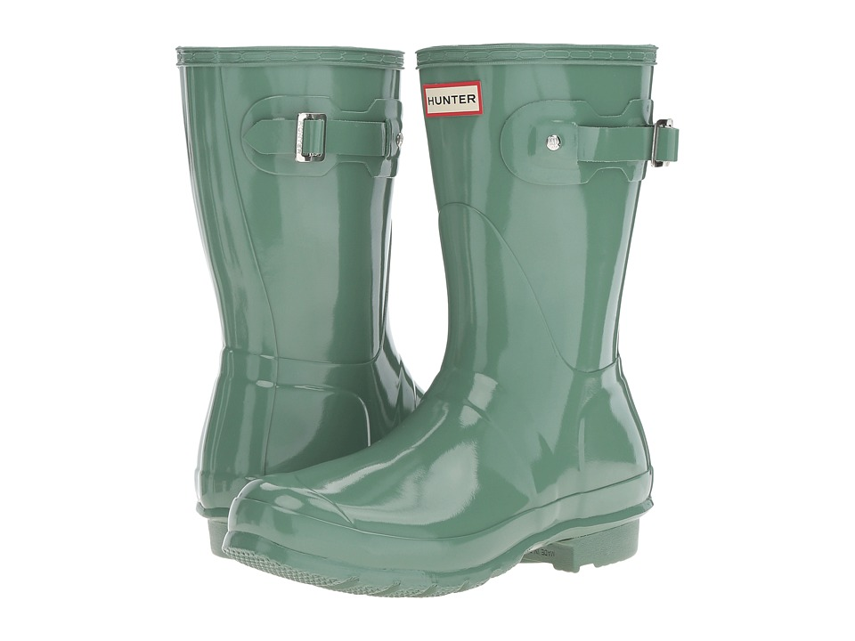 Hunter Original Short Gloss (Succulent Green) Women's Rain Boots