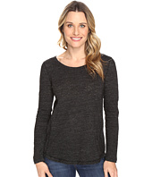 Dylan by True Grit - Soft Heather Slub Long Sleeve Modern Seamed Crew Tee