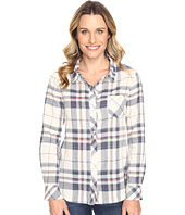 Dylan by True Grit - Sophy Soft Lines Plaid Classic One-Pocket Blouse