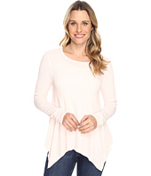 Dylan by True Grit - Weston Slub Rib Thermal Loose Layer Long Sleeve Top