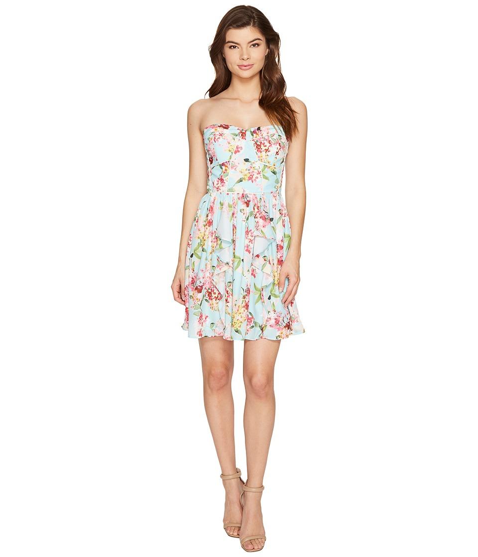 Adelyn Rae - Valerie Woven Printed Strapless Dress