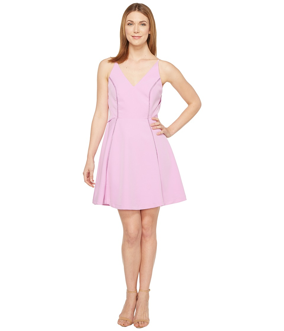Adelyn Rae Jinni Woven Popover Fit and Flare (Lilac Pink) Women