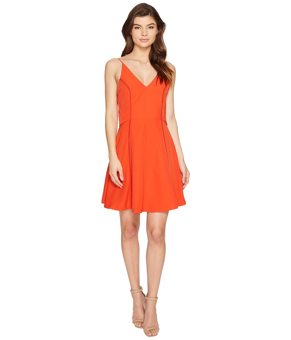 Adelyn Rae Jinni Woven Popover Fit and Flare (Red) Women