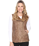 Dylan by True Grit - Easy Rider Vintage Faux Shearling Enzyme Washed Motor Vest