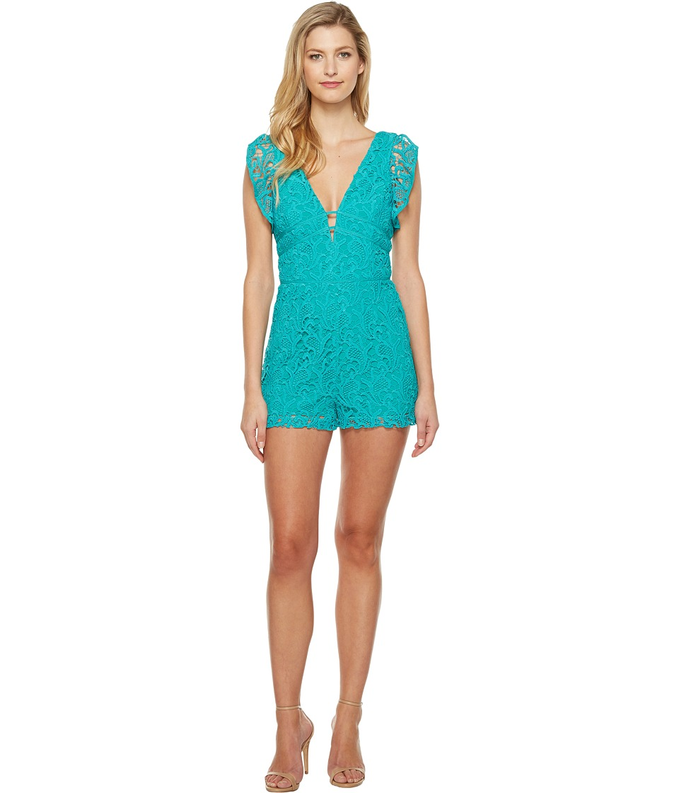 Adelyn Rae - Maddie Woven Lace Romper