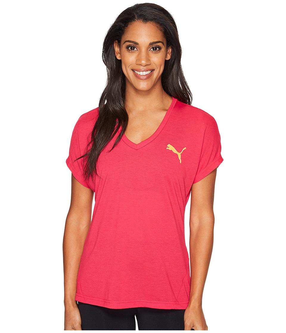 PUMA Elevated Sporty Tee (Bright Rose) Women