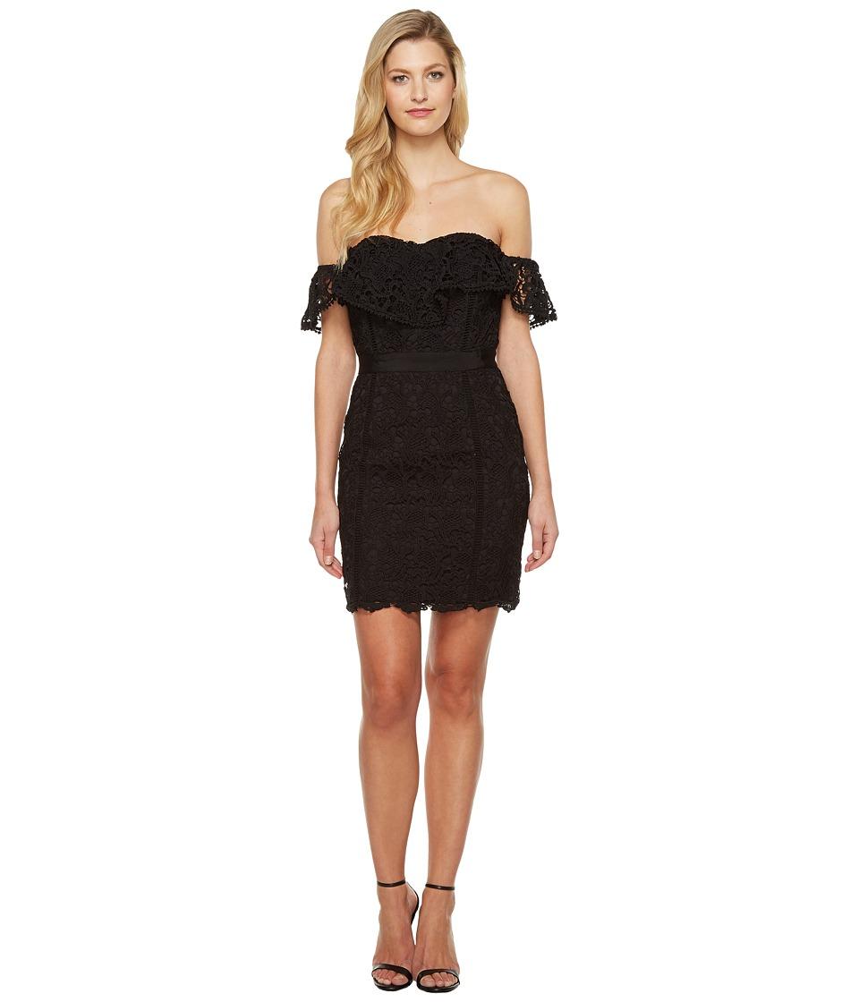 Adelyn Rae Maddie Woven Lace Tube Dress (Black) Women