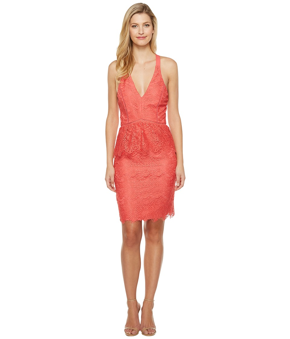 Adelyn Rae - Suzanne Woven Lace Peplum Bodycon
