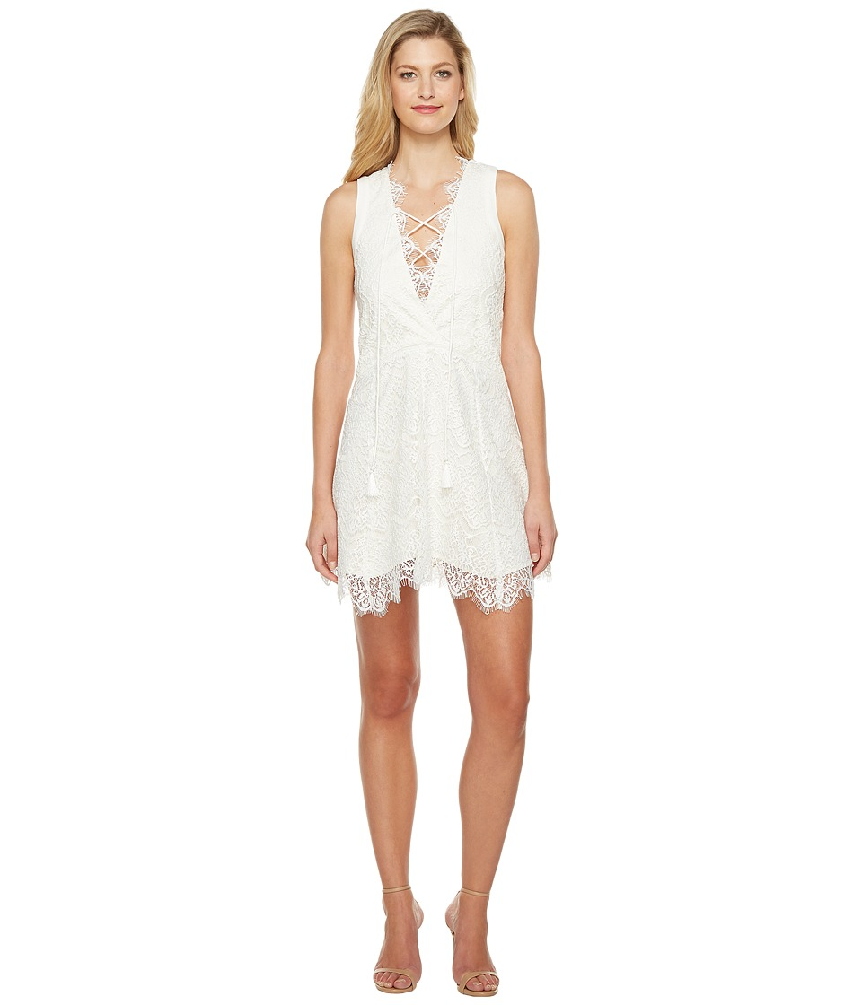 Adelyn Rae Suzanne Woven Lace Shift Dress (White) Women