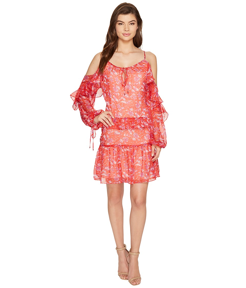 Adelyn Rae - Kaileen Woven Printed Frill Shirtdress
