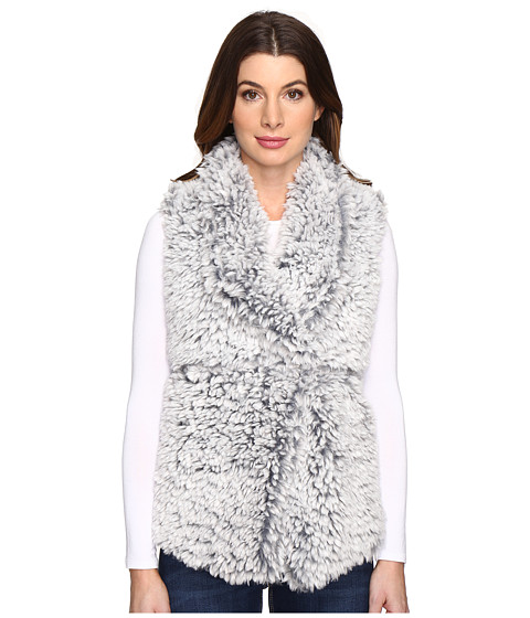 Dylan by True Grit Soft Spot Fuzzy Double Layer Maddy Vest - Faded Denim