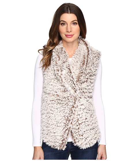 Dylan by True Grit Soft Spot Fuzzy Double Layer Maddy Vest - Soft Brown