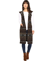 Dylan by True Grit - Beacon Blanket Long Vest with Hood