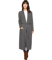 Dylan by True Grit - Glam Softest Fleece Maxi Cardi with Tie Belt