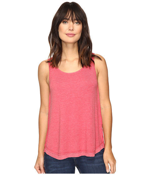 Dylan by True Grit Glam Softest Fleece High-Low Tank Top - Holly Red