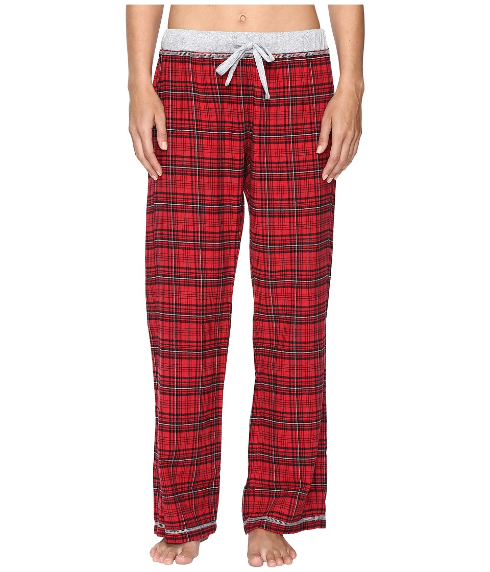 Dylan by True Grit - Whisky Check Cotton Yarn-Dye Flannel PJ Pants with Drawstring