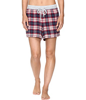 Dylan by True Grit - Whisky Check Cotton Yarn-Dye Flannel Shorts with Drawstring