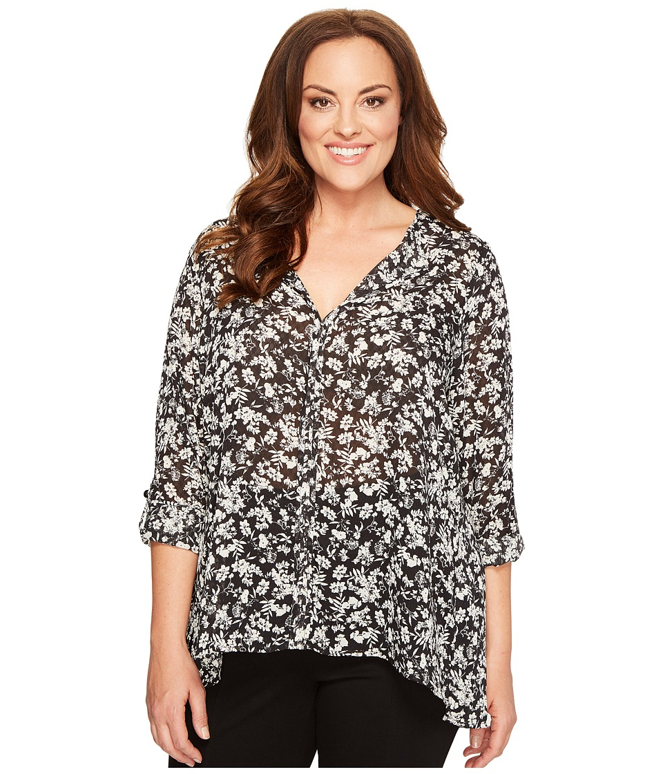 B Collection by Bobeau Curvy B Collection by Bobeau Curvy - Plus Size Cristy Pleat Back Blouse