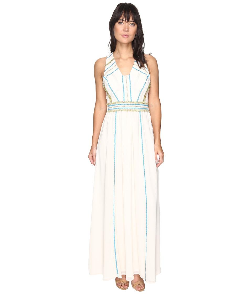 Adelyn Rae Mena Woven Maxi Dress (Ecru) Women