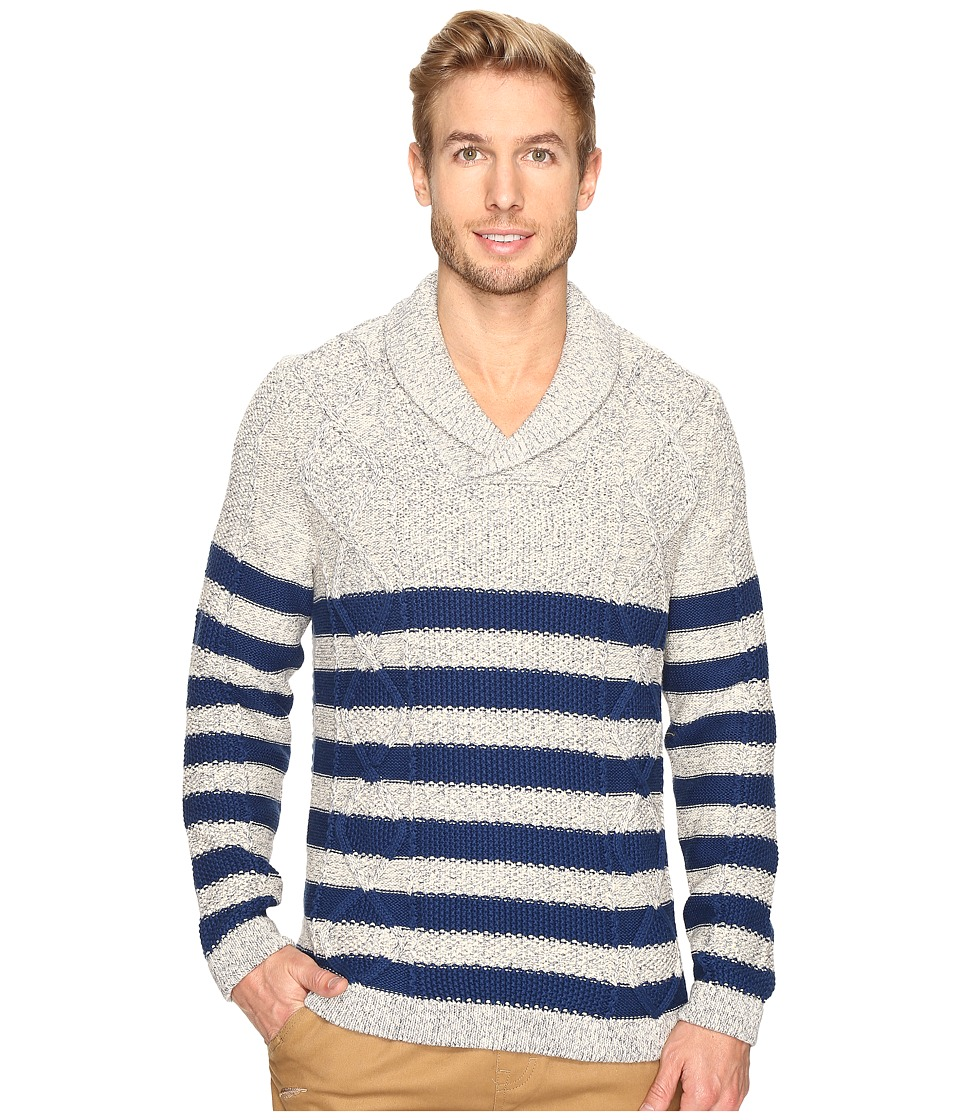 Nautica 3 Gauge Shawl Pullover (Marshmallow) Men