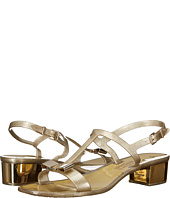 Salvatore Ferragamo - PVC Glitter Thong With Heel