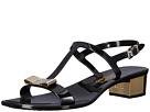 Salvatore Ferragamo PVC Glitter Thong With Heel