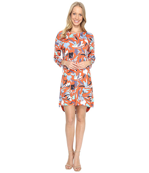 Nally & Millie Red Floral High-Low Dress
