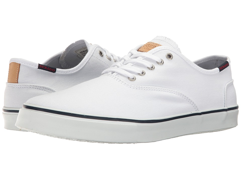 Sebago Nolan Lace-Up (White Canvas) Men