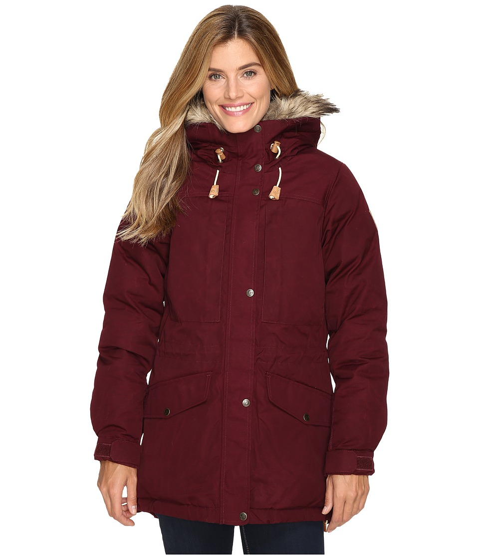 Fjallraven Singi Down Jacket (Dark Garnet) Women