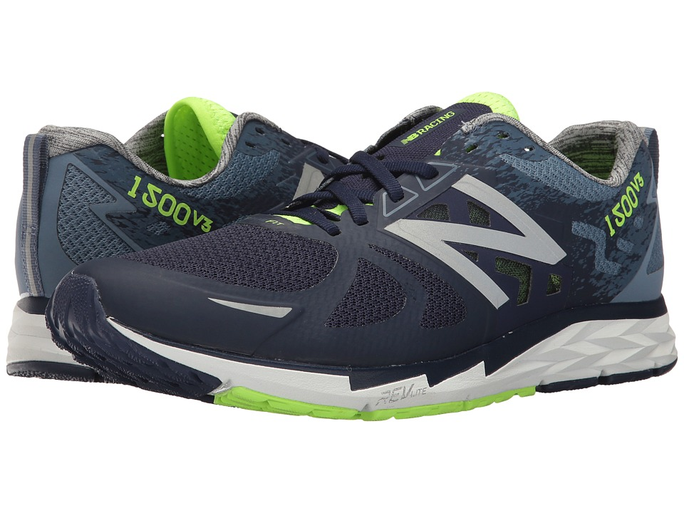 New Balance 1500v3 (Dark Denim/Dark Porcelain Blue/Lime G...