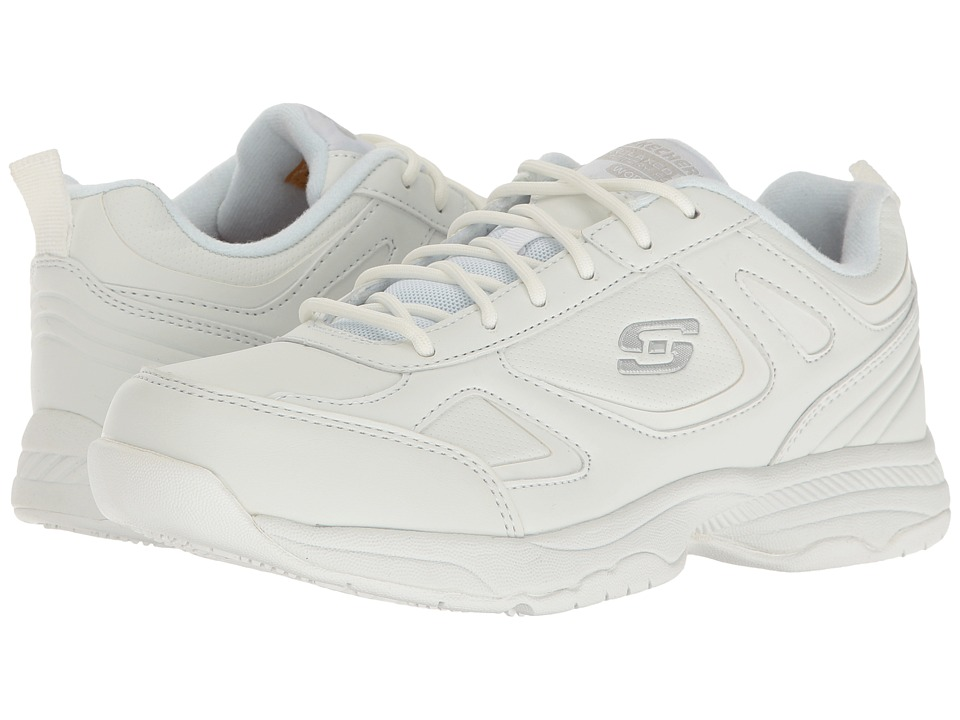 SKECHERS Work Dighton Bricelyn (White Synthetic/Leather) Women