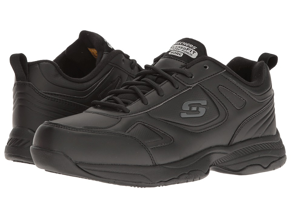 SKECHERS Work Dighton - Bricelyn (Black Synthetic/Leather) Women's Shoes