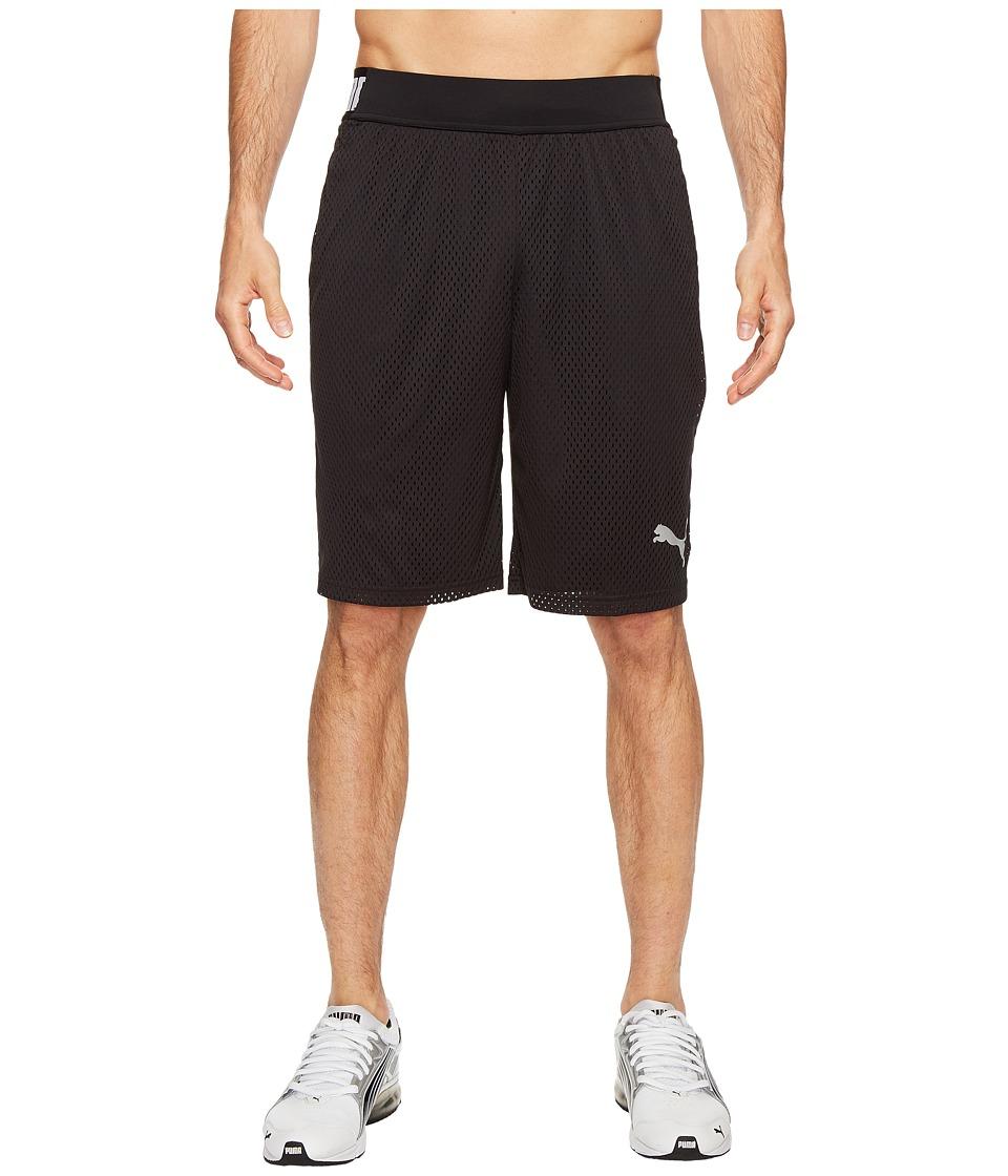 PUMA Training Mesh 10 Shorts (Puma Black/Puma Black) Men