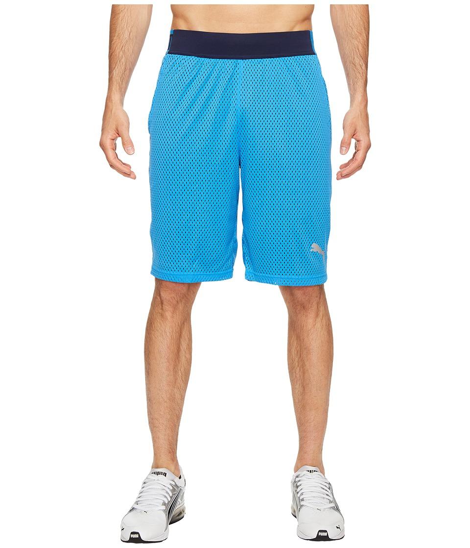 PUMA Training Mesh 10 Shorts (French Blue/Peacoat) Men