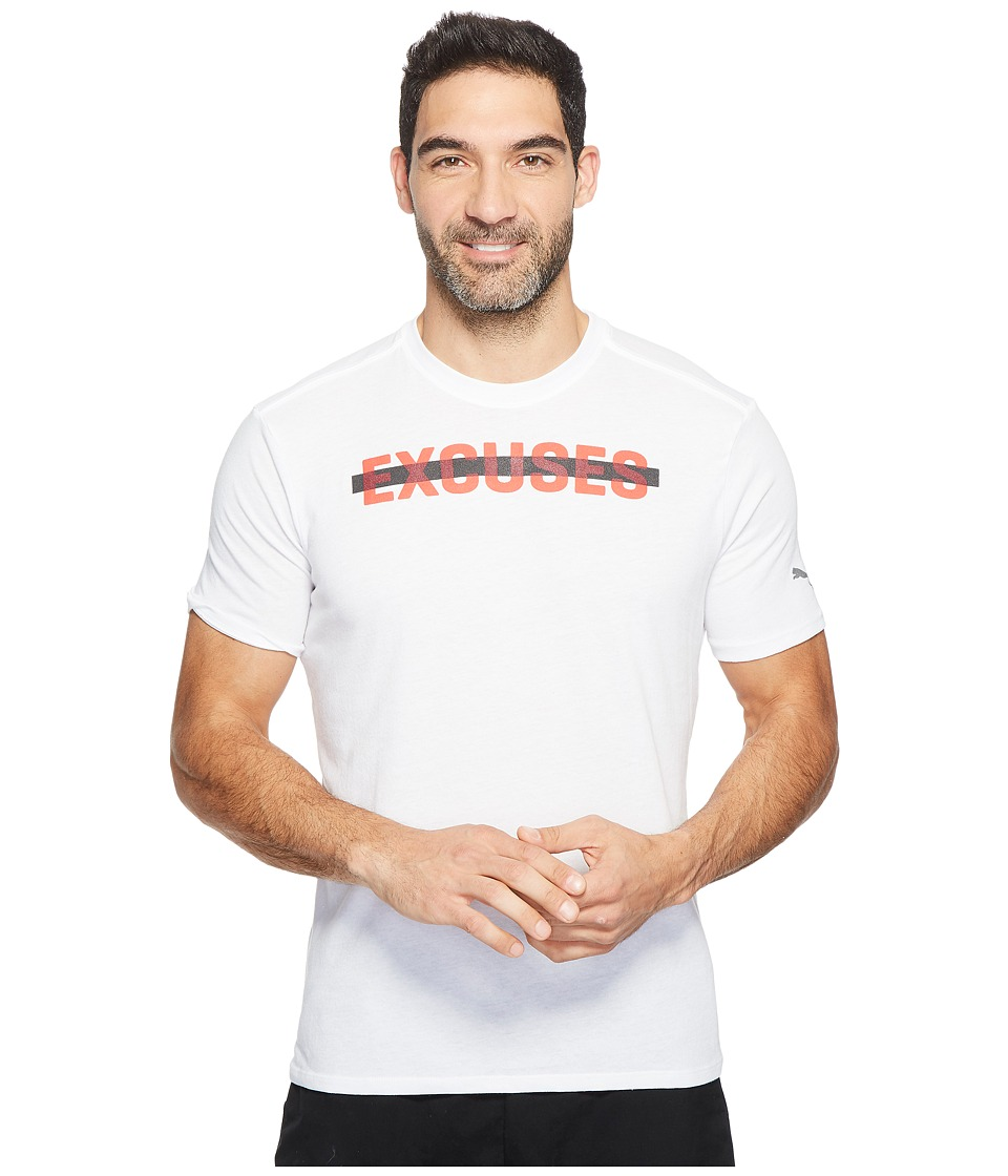PUMA No Excuses Tee (PUMA White/PUMA Red) Men
