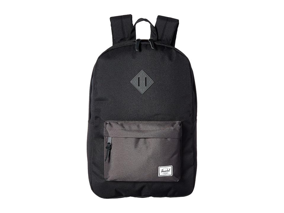 Herschel Supply Co. Heritage (Black/Charcoal Debossed Rubber) Backpack Bags