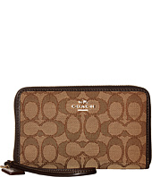 COACH - Box Program Sig Jacquard Zip Around Organizer