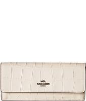 COACH - Embossed Croc Soft Wallet