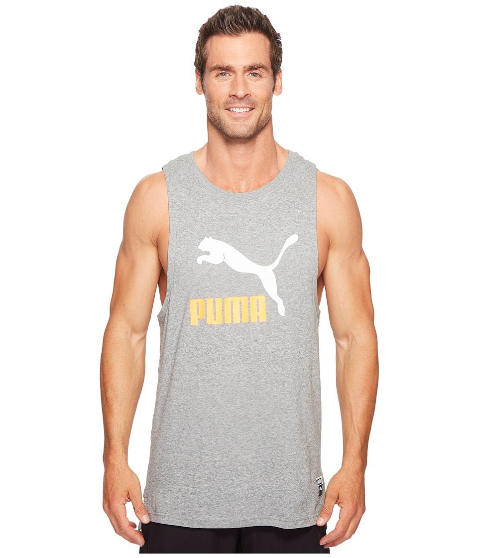 PUMA Archive Logo Fashion Tank Top (Medium Gray Heather) Men