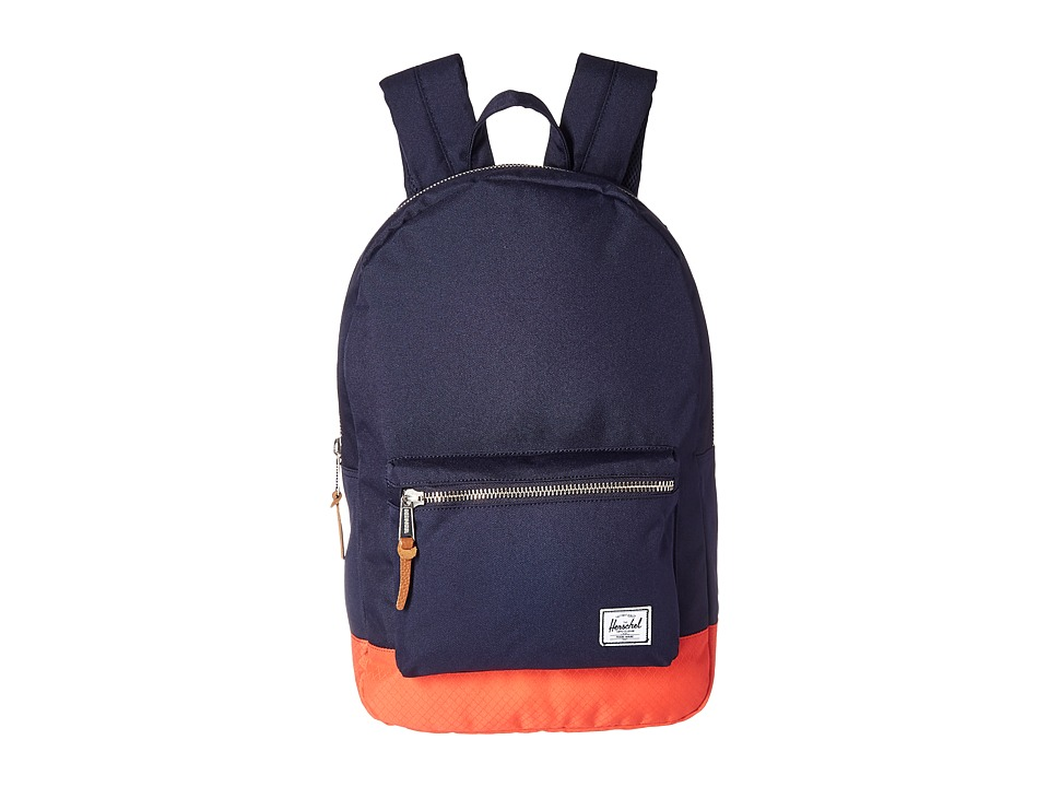 Herschel Supply Co. Settlement (Peacoat/Hot Coral) Backpack Bags