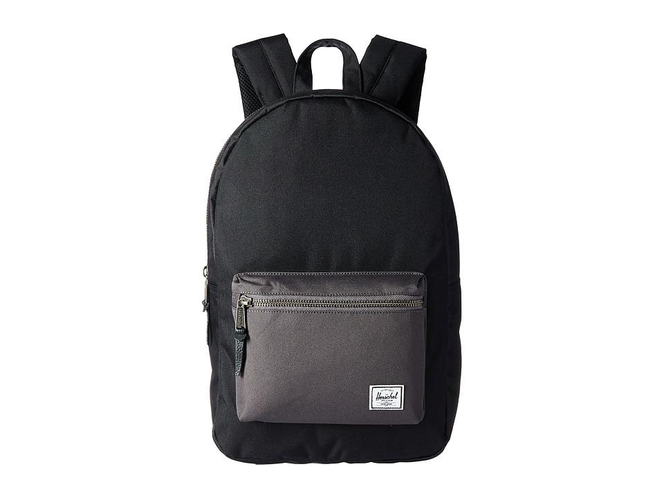 Herschel Supply Co. Settlement (Black/Charcoal) Backpack Bags