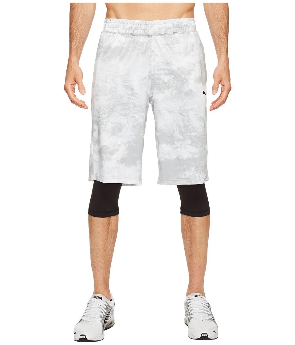 PUMA Evo Layered Tight Shorts (Puma White AOP) Men