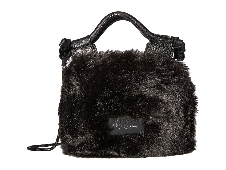 Foley & Corinna - Pheobe Tiny City Crossbody (Black Fur) Cross Body Handbags