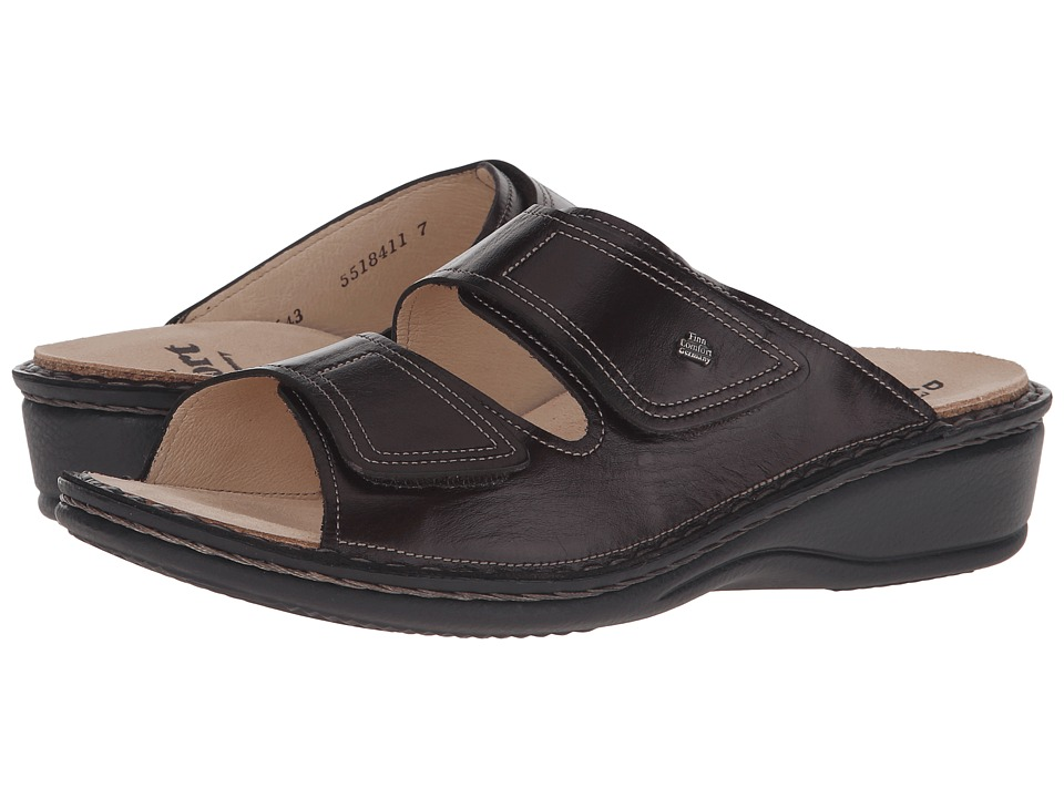 Finn Comfort Jamaica 82519 Kaffee Senegal Leather Soft Footbed Womens Slide Shoes