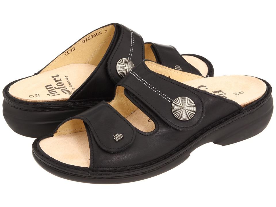 Finn Comfort Sansibar 82550 (Black Nappa Leather) Women's Shoes