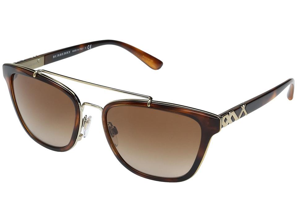 Burberry - 0BE4240 (Light Havana/Brown Gradient) Fashion Sunglasses