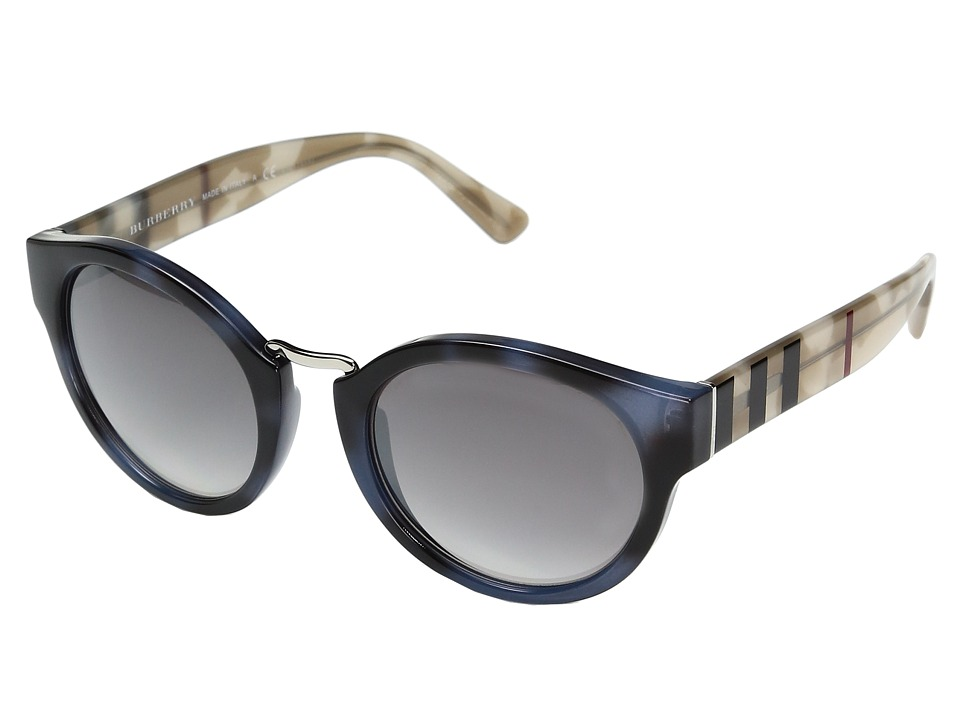 Burberry - 0BE4227 (Spotted Blue/Gradient Gray Mirror Silver) Fashion Sunglasses