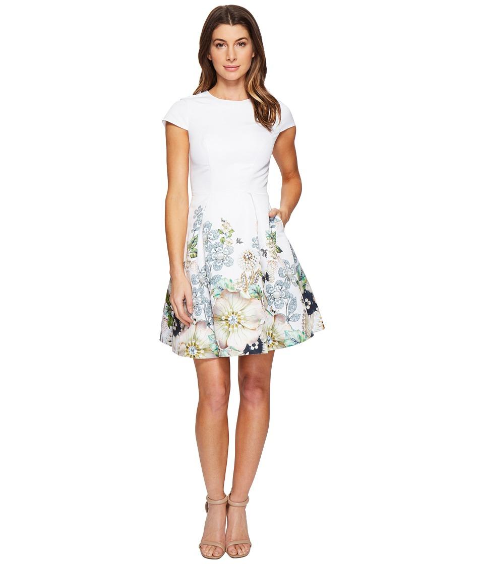Ted Baker Yvetta Gem Garden Bodycon Dress (Ivory) Women